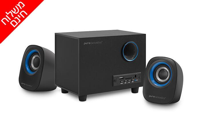 2 מערכת רמקולים למחשב Pure Acoustics עם חיבור Bluetooth - משלוח חינם