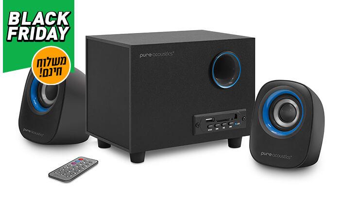 7 מערכת רמקולים למחשב Pure Acoustics עם חיבור Bluetooth - משלוח חינם