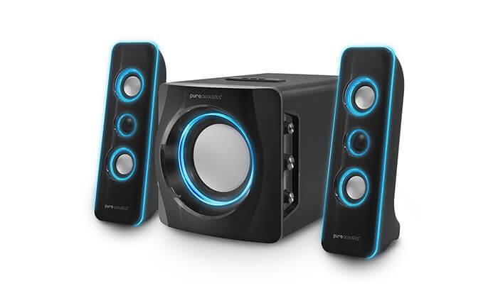 2 מערכת רמקולים Pure Acoustics עם חיבור Bluetooth