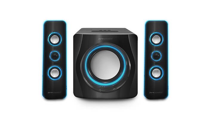 3 מערכת רמקולים Pure Acoustics עם חיבור Bluetooth
