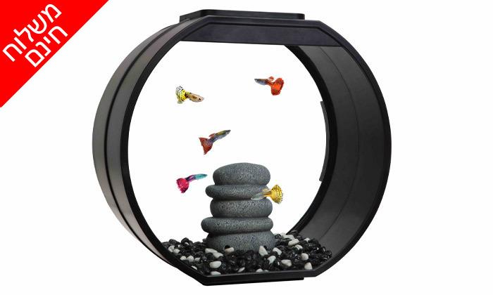 3 אקווריום לדגים Deco במבחר גדלים עם תאורת לד - משלוח חינם