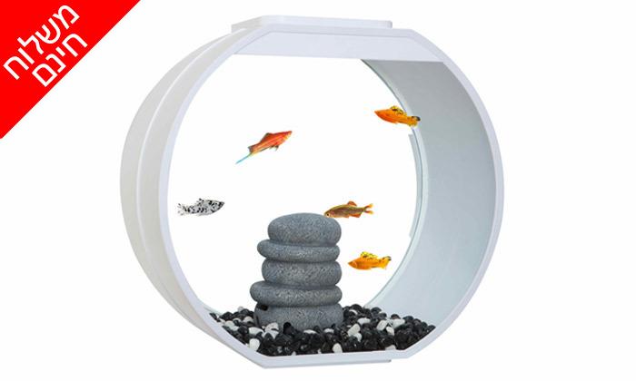 5 אקווריום לדגים Deco במבחר גדלים עם תאורת לד - משלוח חינם