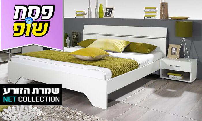 2 שמרת הזורע: מיטה זוגית עם זוג שידות לילה