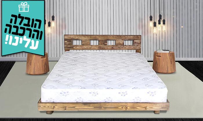 4 מיטה זוגית מעץ מלא - הובלה והרכבה חינם!