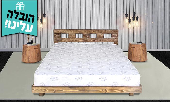 2 מיטה זוגית מעץ מלא - הובלה והרכבה חינם!