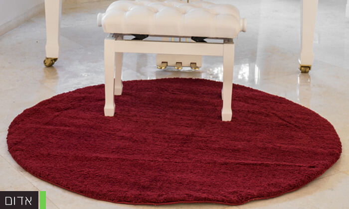 3 שטיח עגול לסלון קטן - שאגי