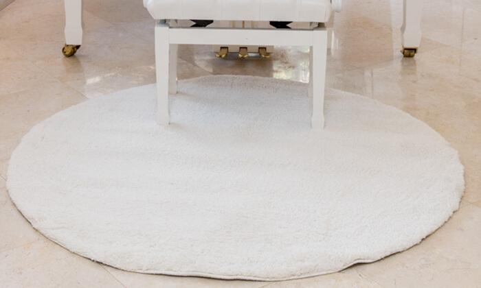 9 שטיח עגול לסלון קטן - שאגי