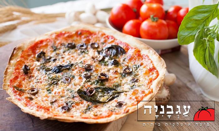 2 פיצה עגבניה הכשרה במרכז חורב, חיפה - מגש L בהטבת 1+1