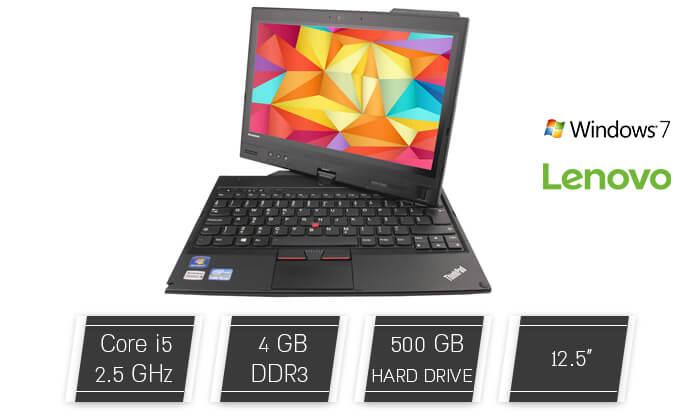 2 מחשב נייד Lenovo - לנובו עם מסך מגע 12.5 אינץ'