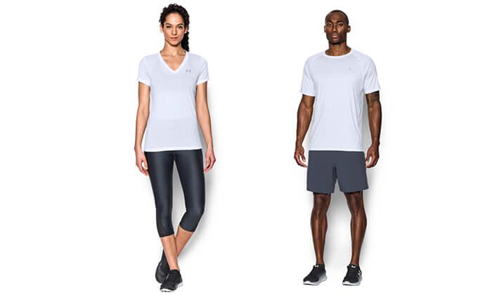 2 חולצת אימון לאשה ולגבר UNDER ARMOUR