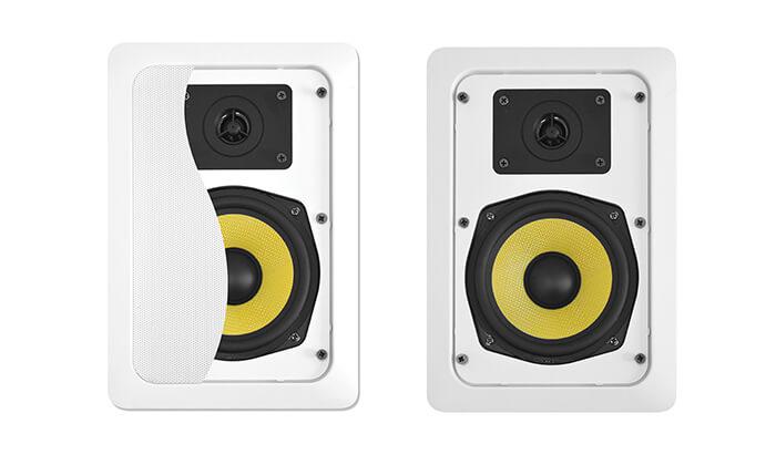 4 זוג רמקולים שקועים Pure Acoustics - משלוח חינם!
