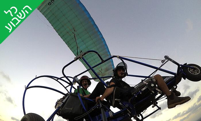 4 טיסה בבקאי - טרקטורון מעופף - עם 'עד השמיים - טיסות חוויה', עין ורד