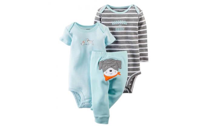 3 סט 3 חלקים: מכנסיים ו-2 בגדי גוף לתינוק קרטרס Carter's