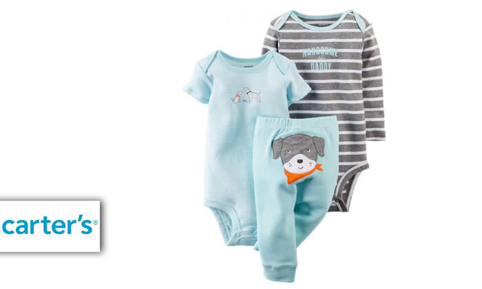 2 סט 3 חלקים: מכנסיים ו-2 בגדי גוף לתינוק קרטרס Carter's