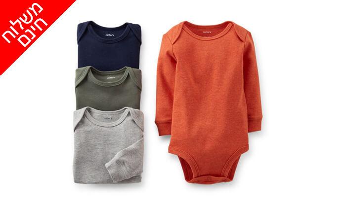 5 מארז 4 בגדי גוף לתינוק קרטרס - Carter's - משלוח חינם!