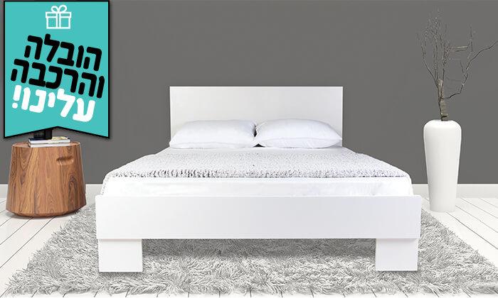 4 מיטה עם משענת ראש - הובלה והרכבה חינם