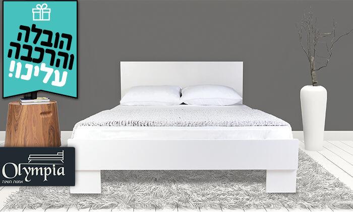 2 מיטה עם משענת ראש - הובלה והרכבה חינם