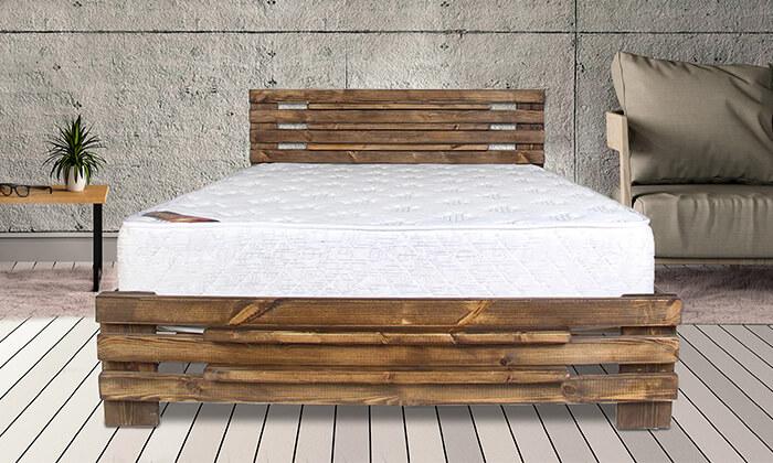 4 אולימפיה: מיטה מעץ מלא דגם 5008 עם מזרן