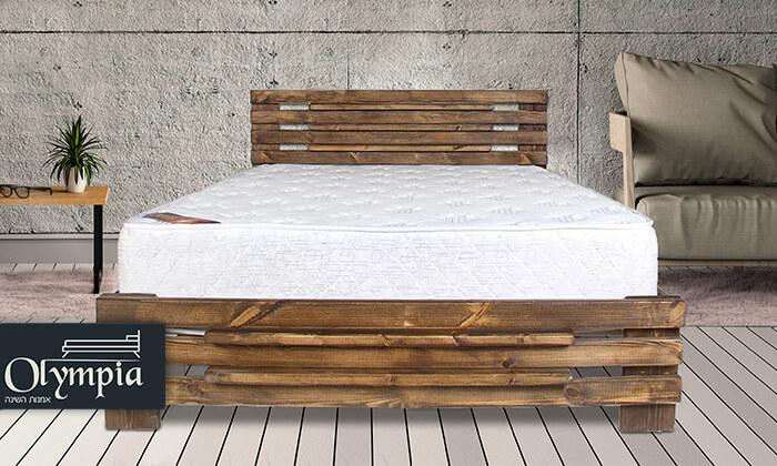 2 אולימפיה: מיטה מעץ מלא דגם 5008 עם מזרן