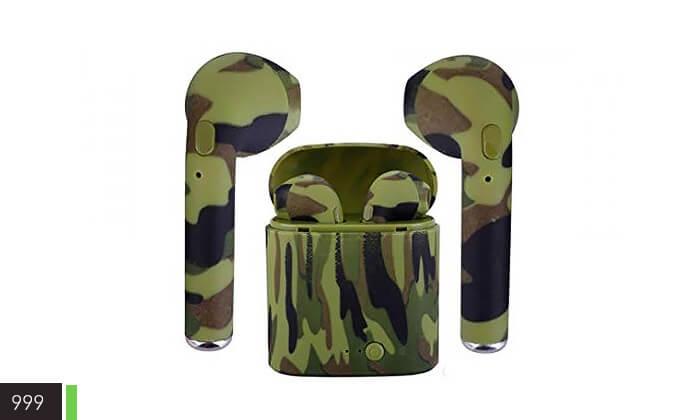 3 אוזניות Bluetooth בצבעי הסוואה
