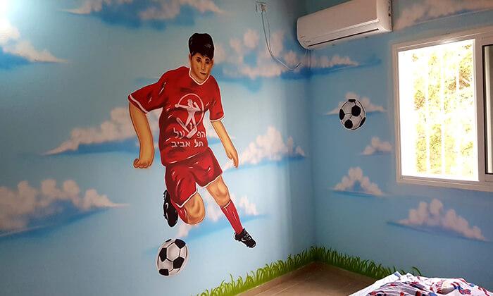 9 ציור קיר-גרפיטי בחדר ילדים, איציק ארט - אמן ציורי קיר