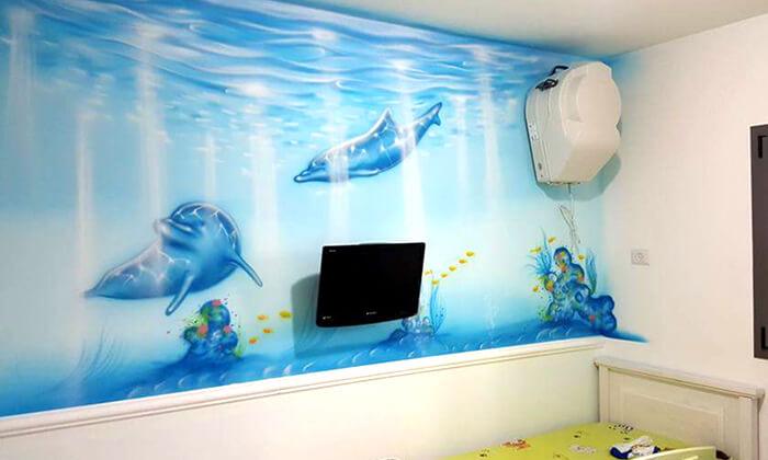 11 ציור קיר-גרפיטי בחדר ילדים, איציק ארט - אמן ציורי קיר