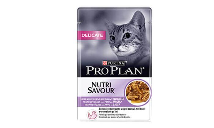 4 מארז 24 יחידות מעדן אוכל לחתולים PRO PLAN - משלוח חינם!