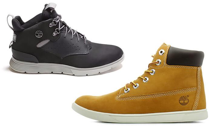 2 נעלי Timberland לנשים ולגברים