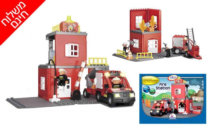 2 תחנת כיבוי, משחק הרכבה לילדים KIKO - משלוח חינם!