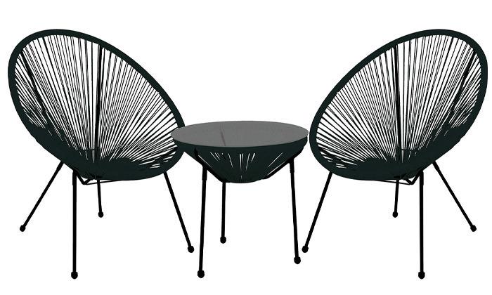 4 סט 2 כסאות ושולחן חוטים