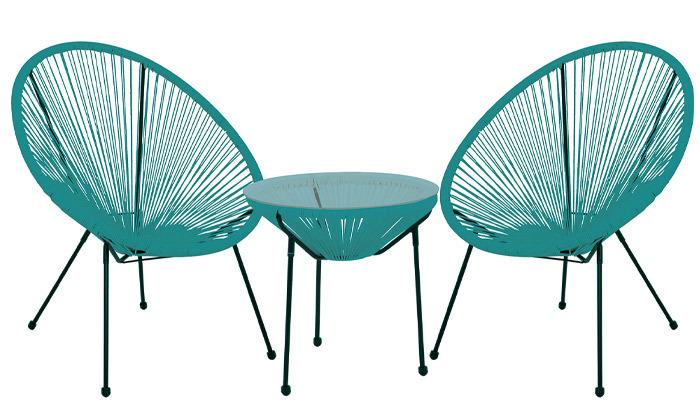 3 סט 2 כסאות ושולחן חוטים