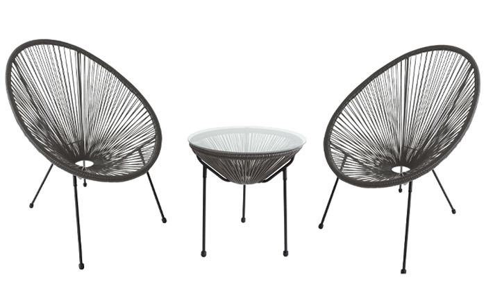 2 סט 2 כסאות ושולחן חוטים