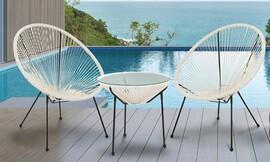 סט 2 כסאות ושולחן חוטים