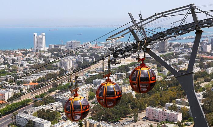 2 רכבל על הזמן - יום כיף עם סיור לכל המשפחה, חיפה