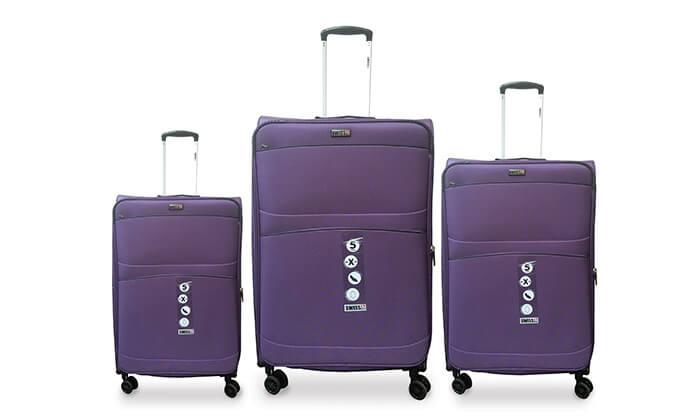 3 סט שלישיית מזוודות SWISS