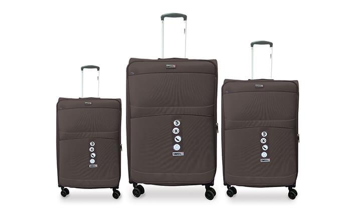 4 סט שלישיית מזוודות SWISS