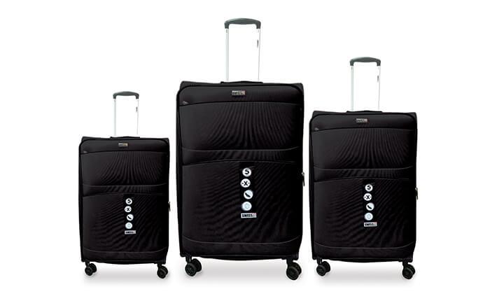 5 סט שלישיית מזוודות SWISS