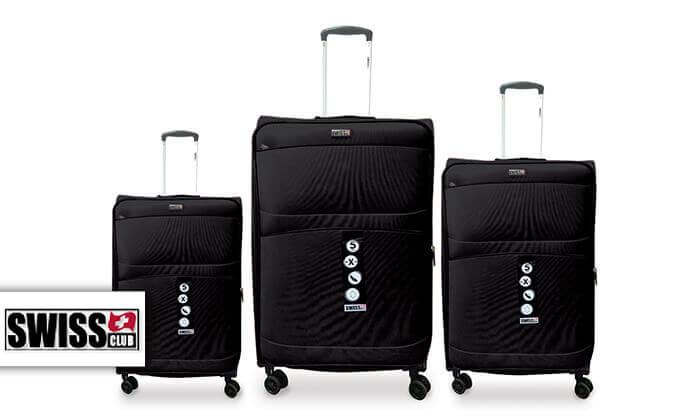 2 סט שלישיית מזוודות SWISS