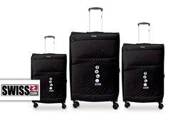 שלישיית מזוודות בד SWISS