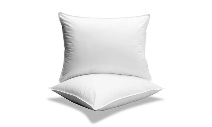 4 כרית שינה במילוי פלומה ונוצות - משלוח חינם!