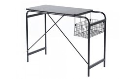שולחן מחשב בשילוב סל אחסון