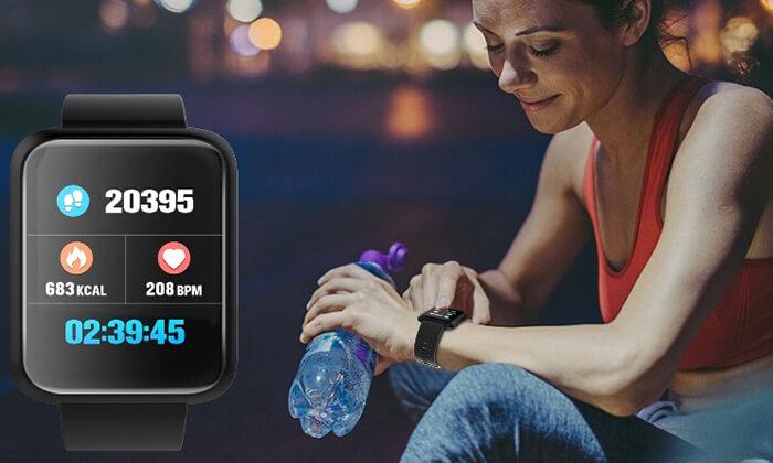 4 שעון ספורט חכם עם תצוגת LED