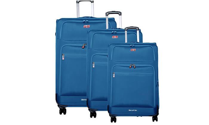 3 סט 3 מזוודות בד MARCO POLO