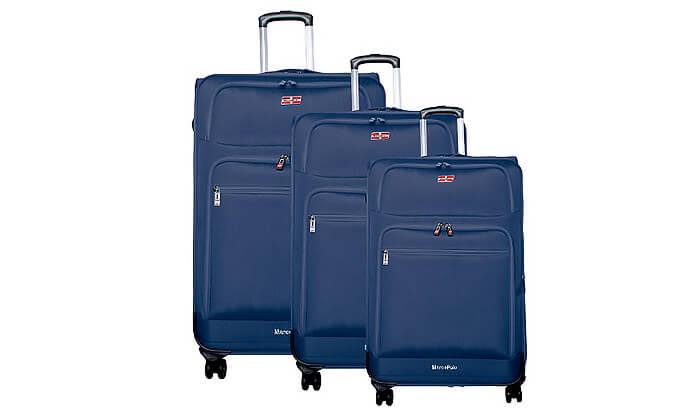 4 סט 3 מזוודות בד MARCO POLO
