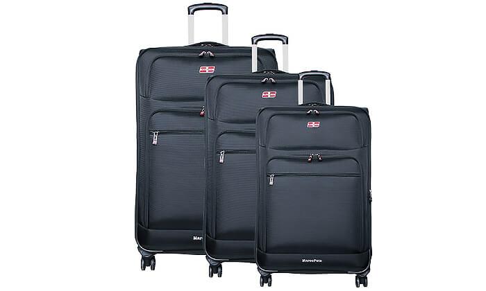 2 סט 3 מזוודות בד MARCO POLO