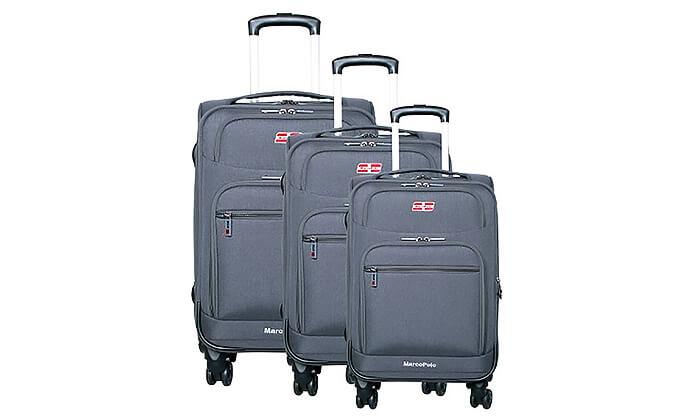 5 סט 3 מזוודות בד MARCO POLO