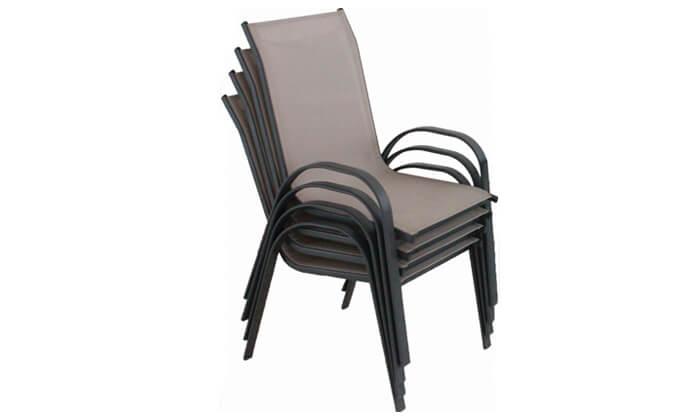 2 סט 4 כסאות עם בד רשת