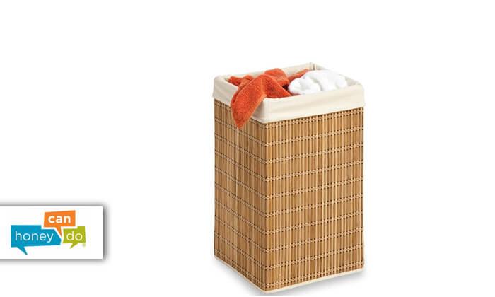 2 סל כביסה מרובע מבמבוק Honey can do