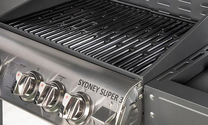 5 גריל גז עם 3 מבערים Australia Chef דגם Sydney Super 3