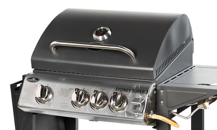 7 גריל גז עם 3 מבערים Australia Chef דגם Sydney Super 3